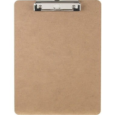 OIC® Letter Size Hardboard Clipboard with Low-Profile Clip, 9in. x 12 1/2in.