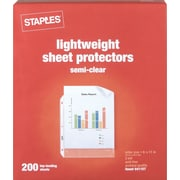 Staples Economy Weight Sheet Protectors