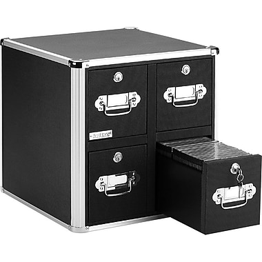 Vaultz® 660 Disc Locking CD Cabinet, Black