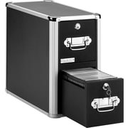 Vaultz 330 Disc Locking CD Cabinet, Black