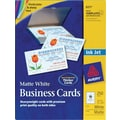 Avery® Inkjet Business Cards, White, 2in. x 3 1/2in., 250/Cards