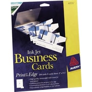 "Avery® Inkjet Business Cards, Glossy White, 2"" x 3 1/2"", 200/Cards"