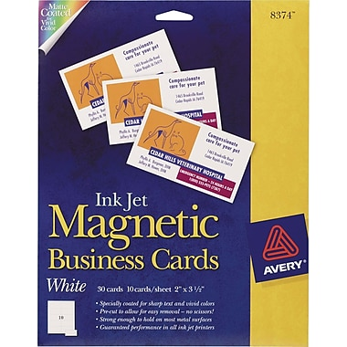 Avery Inkjet Magnetic Business Cards