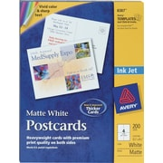 Avery® Inkjet Postcards, 5 1/2 x 4 1/4, Matte Finish