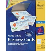 Avery® Inkjet Business Cards, White, 2 x 3 1/2, 1,000/Cards