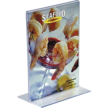 Staples Vertical Plastic Stand-Up Sign Holder, 5