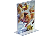 Staples® Vertical Stand-Up Sign Holder, 5'W x 7'H, 12/Pack