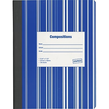 Staples® Composition Notebooks, Colored Covers