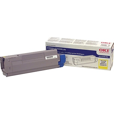 Okidata Yellow Toner Cartridge (43381901)