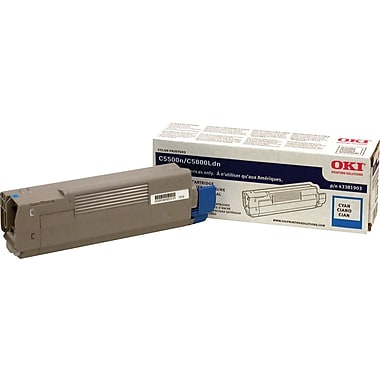 Okidata Cyan Toner Cartridge (43381903)