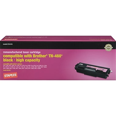 STAPLES® Remanufactured Toner Cartridge Compatible with Brother® TN-460, High Yield
