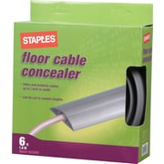Staples Floor Cable Concealer, Gray