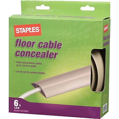 Staples Floor Cable Concealer, Tan