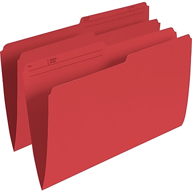 Staples® Coloured File Folder, Legal Size, 8-1/2