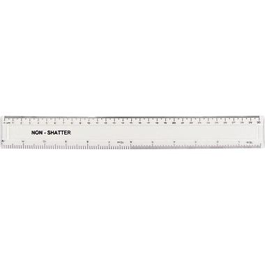 Westcott® 12in. Shatterproof Plastic Ruler