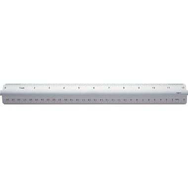 Staples® Aluminum Grip Ruler, 12