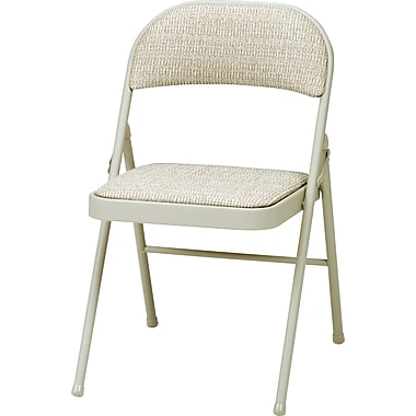 Sudden Comfort Folding Chairs, Tan, 4/Pack
