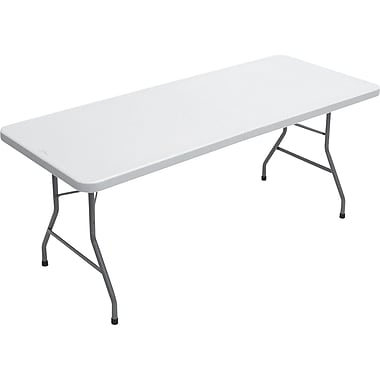 Staples® Banquet Table with Folding Legs, 96