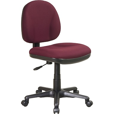 Office Star Deluxe Armless Task Chair, Burgundy