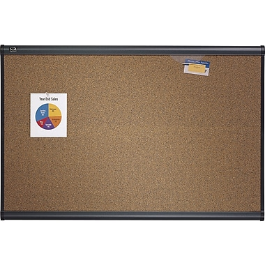 Quartet® Prestige® Coloured Cork Bulletin Board, Graphite Frame, 48