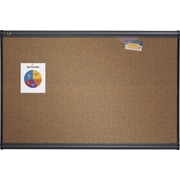 Quartet® 3' x 2' Prestige® Colored Cork Bulletin Board with Graphite Frame