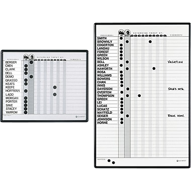 Quartet® In/Out Personnel Board
