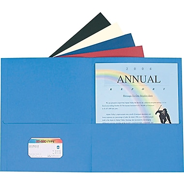 Staples® Twin-Pocket Portfolio, 5-Colour, 10/Pack