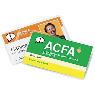 GBC® HeatSeal Retrievable Premium Pouches, Business Card Size, 25-Pack