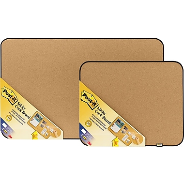 Post-it 36in. x 22in. Sticky Cork Board