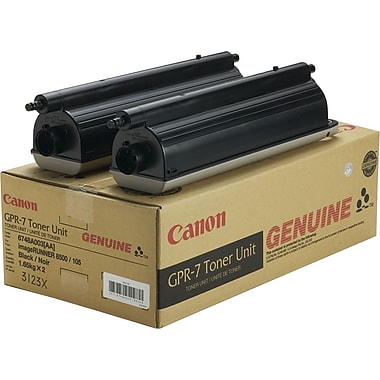 Canon GPR-7 Black Toner Cartridges (6748A003AA), 2/Pack