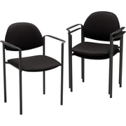 Global Comet Stacking Arm Chair, Black