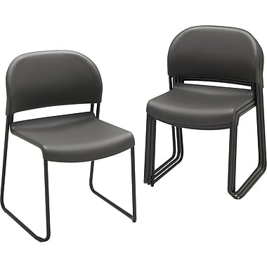 HON GuestStacker® Chair, Charcoal