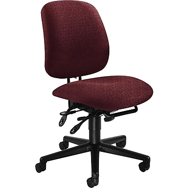 HON® 7700 Series Armless Manager's Chair with Seat Glide, Burgundy