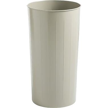 Safco® Round Wastebasket, Sand, 20 gal.