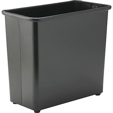 Safco 27 1/2-Quart Rectangular Fire-Safe Wastebasket, Black
