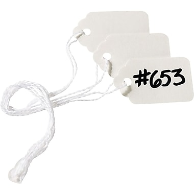 Avery® White Marking Tags, 1 3/32in. x 3/4in., 1,000/Box