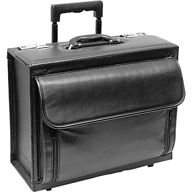 U.S. Luggage™ Leather Rolling Computer/ Catalog Case