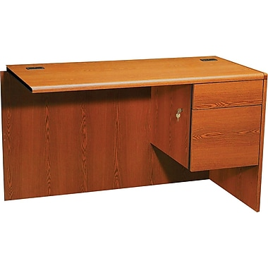 HON 10700 Series 48in. Right Return for L-Workstation, Henna Cherry