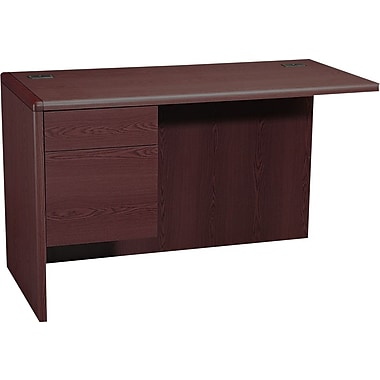 HON 10700 Series 48in. Left Return for L-Workstation, Mahogany