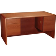 HON® 10700 Series 60 Double Pedestal Desk, Henna Cherry
