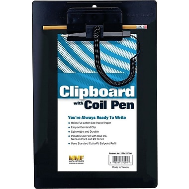 MMF Industries™ Clipboard with Coil Pen, 9