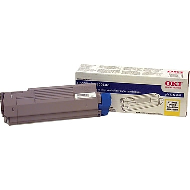 Okidata Yellow Toner Cartridge (43324401), High Yield