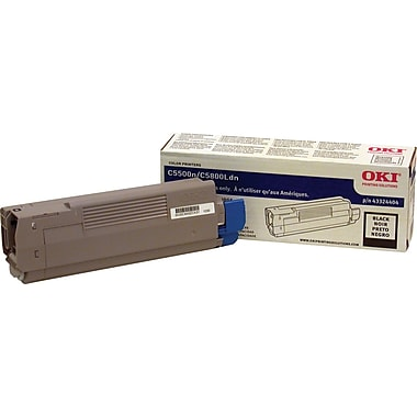 Okidata Black Toner Cartridge (43324404), High Yield