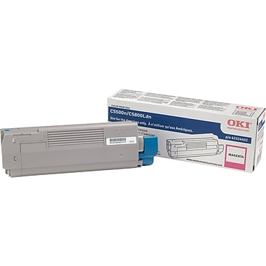 Okidata Magenta Toner Cartridge (43324402), High Yield
