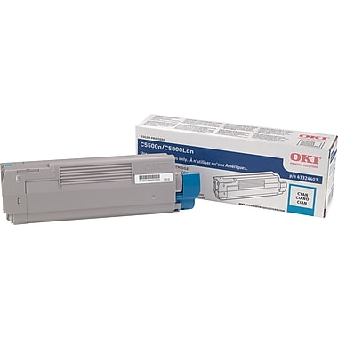 Okidata Cyan Toner Cartridge (43324403), High Yield