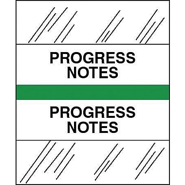 Tabbies® Medical Chart Index Divider Sheet Tabs, Progress Notes, Lt.Green