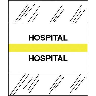 Tabbies® Medical Chart Index Divider Sheet Tabs, Hospital, Yellow