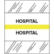 Tabbies® Medical Chart Index Divider Sheet Tabs, Hospital, Yellow