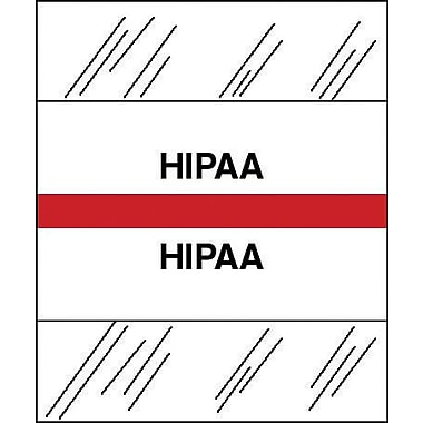Tabbies® Medical Chart Index Divider Sheet Tabs, HIPAA, Red