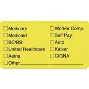 Tabbies® Insurance Labels, Insurance Coverage Provided, Yellow